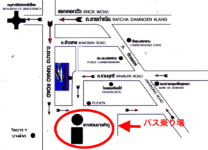 ロンプラヤオフィスの地図