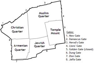 エルサレム旧市街の地図