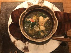 伊勢海老と地魚の筍煮仕立て