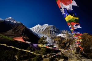 ネパールのヒマラヤ山脈