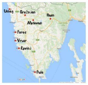 イストラ半島の地図