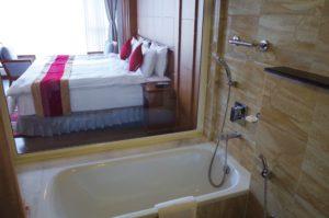 ヒマラヤンフロントホテルのバスルーム