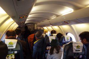 イエティ航空の機内