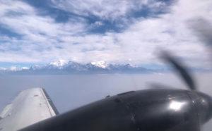 上空から見えるヒマラヤ山脈