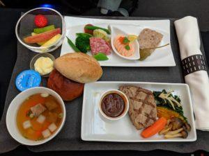 JALビジネスクラスの機内食