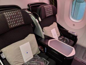 JALビジネスクラスの座席